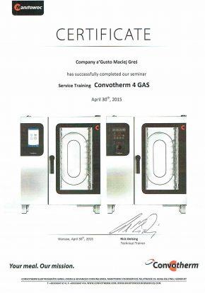 Certyfikaty certyfikat certifikat convothrtm 4 gas agusto 290x414