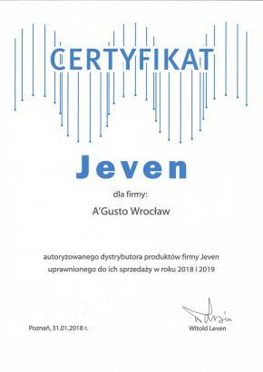 Certyfikaty certyfikat jeven 2018 290x411