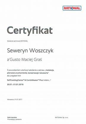 Certyfikaty certyfikat rational 290x414