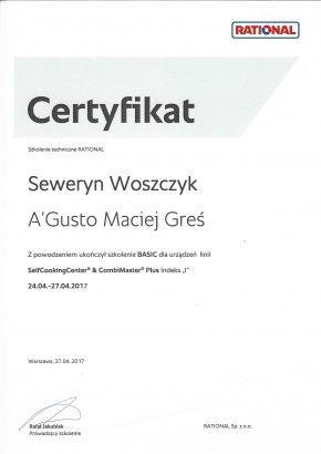 Certyfikaty certyfikat rational kwiecien 2017 290x410