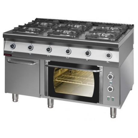 autoryzowany serwis kromet Autoryzowany serwis Kromet kuchnia gazowa 6 palnikowa z piekarnikiem elektrycznym 900kg 6pe 1tsd kromet