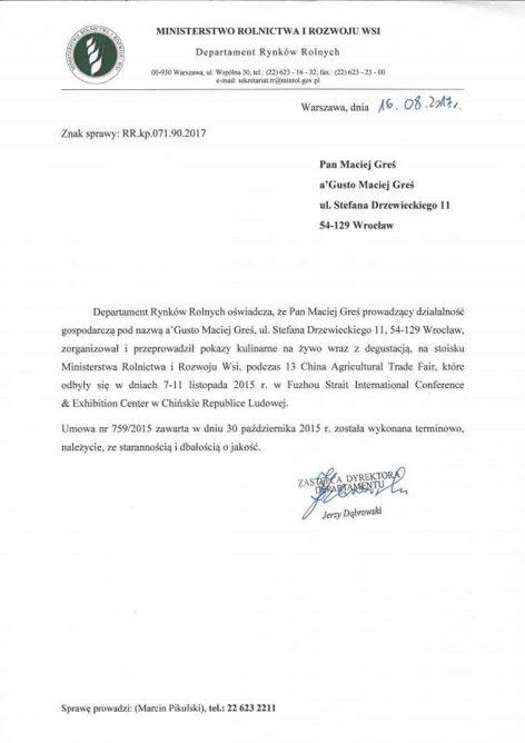 O firmie referencje ministerstwo rolnictwa i rozwoju wsi 339203589 472x668