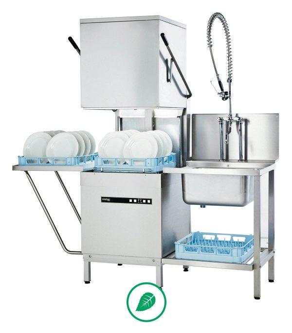 wyposażenie gastronomiczne cukierni Wyposażenie Gastronomiczne Cukierni zmywarka kapturowa do naczyn 612 ecomax 2 1 600x686